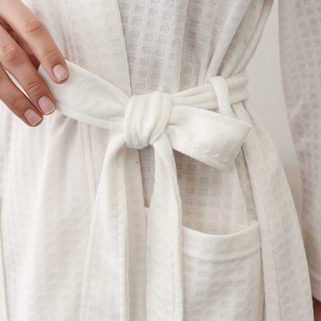 New Women Bathrobe Cotton Kimono Bath Robe Lovers Dressing Gown Bridesmaid Robes Comfortable Winer Warm Bath Robe Home Nightgown