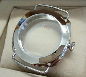 Image 5 - 45mm Sapphire crystal Polished Stainless Case Fit 6497 6498 Movement High quality watchcase wholesale 010a