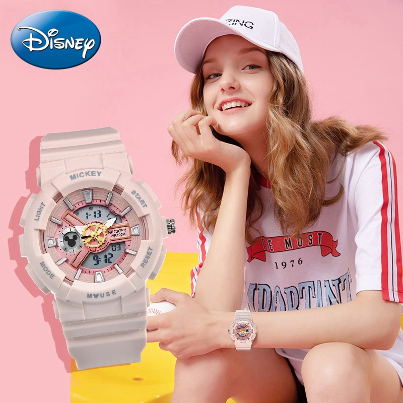 2020 Sport <font><b>100M</b></font> Waterproof Watch Multifunction Luminous Rubber Ladies Digital Quartz Wrist Watches Young Women Clock Child Gift image