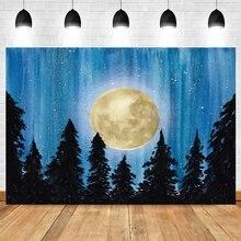 Yeele ночной Луны лесного дерева с блестками в виде кирпичной