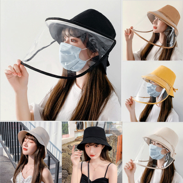 Protective Epidemic Anti-saliva Dust-proof Hat Safety Protection Tool Splash Dust Proof Full Face Shield Cover Windproof Beanies 4
