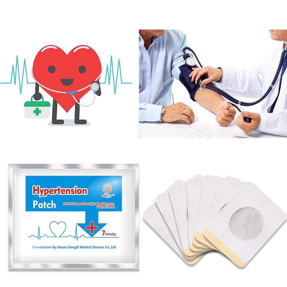 KONGDY 28 Pcs High Blood Pressure Plaster Herbal Hypertension Patch Blood Lowering Plaster Clean Blood Vessel