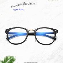 Plastic Metal Round Rivet Blue Light Ray Blocking Glasses Cu