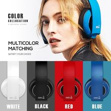 Bluetooth Headphones HOLY SERPENT F5 Over-Ear Wired Wireless Headphone White Foldable Stereo Headset with Mic Support TF Card