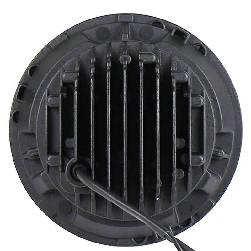 をベクトラ 7 インチジープラングラー led ヘッドランプ 50 ワット電話の bluetooth 制御 rgb ラインライト rgb ランプ