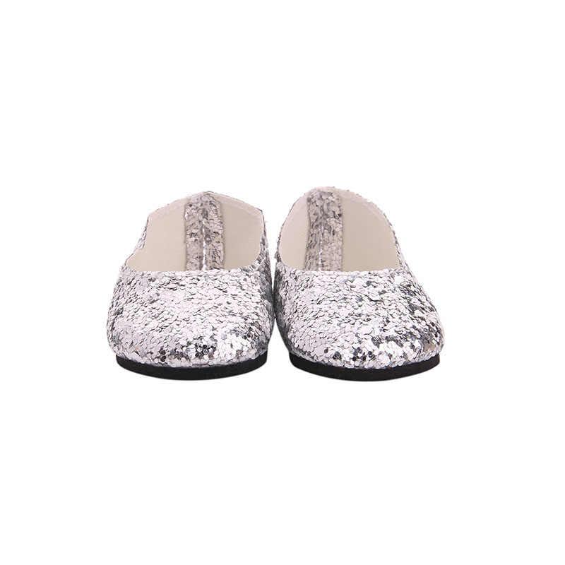 Zapatos de muñeca, 15 estilos, adecuados para zapatos de bebé recién nacido de 43 cm, zapatos blancos y negros de 18 pulgadas, zapatos deportivos, zapatos de muñeca