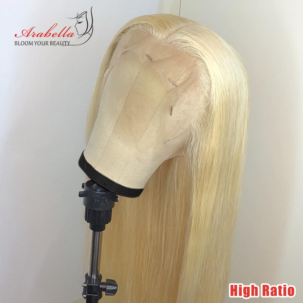 613 Lace Front Wig 180% 250% Density 100% Human Hair Wigs High Ratio Arabella Remy Hair Peruvian 13x4 Blonde Lace Front Wig