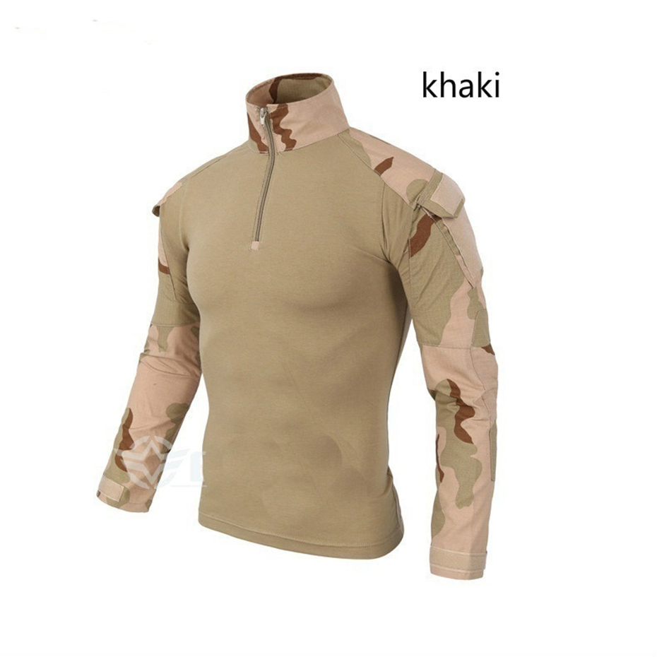 Long Sleeve T-Shirt Men Quick Dry Army Camouflage T-Shirt Men Soldiers Combat Tactical T Shirt Military Force Multicam Camo Plus