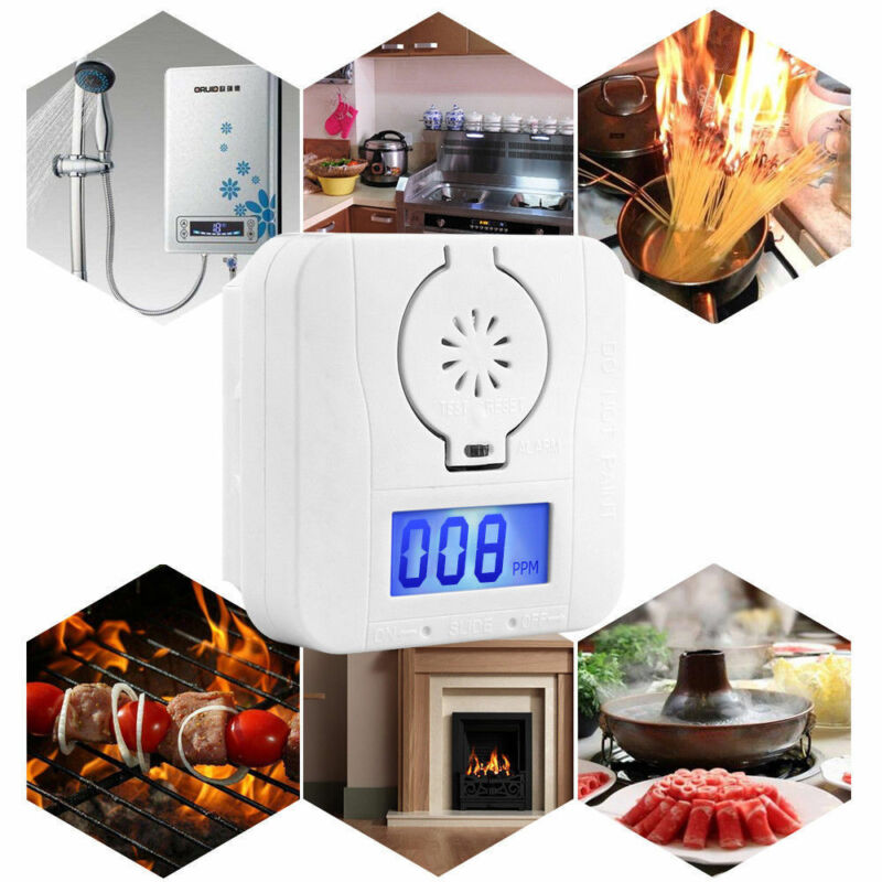 New Arrival Carbon Monoxide Digital Warning Alarm Sensor Detector Temp LCD Display Carbon Monoxide Detectors