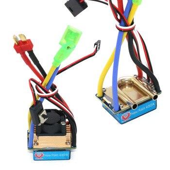 цена на RC ESC,480A Brushed ESC Speed Controller Dual Mode Regulator band brake 5V/3A for 1/10 RC Car/Boat