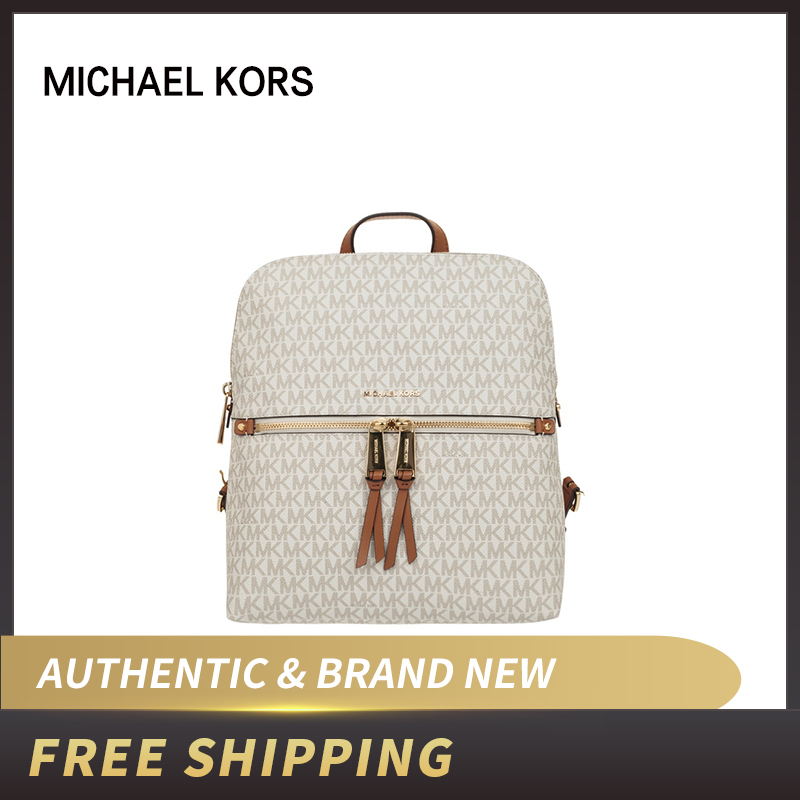 Authentic Original & Brand New MK Michael Kors Rhea Signature Zip Slim Women's Backpack 30H6GEZB2V