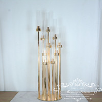 4PCS New Arrival 10 Arms Candelabra Metal Candle Holder Gold Centerpieces for Event Wedding Party Decoration Home Decor