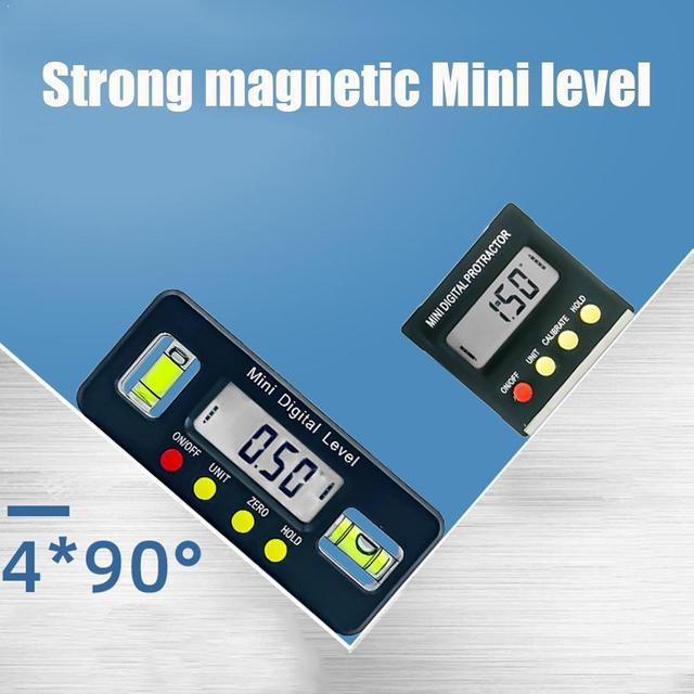 Digital angle finder Protractor electronic level box tool measuring inclinometer digital 360 Degree angle with magnets Port R5I0