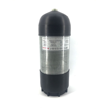 AC3120 Acecare 12L GB 4500Psi Carbon Fiber Gas Cylinder PCP Paintball Scuba Tank For Diving/Shooting Targets With Rubber Boots ac168 acecare 6 8l ce scuba diving air tank pcp rifle paintball air tank 4500psi bottle for diving carbon fiber gas cylinder
