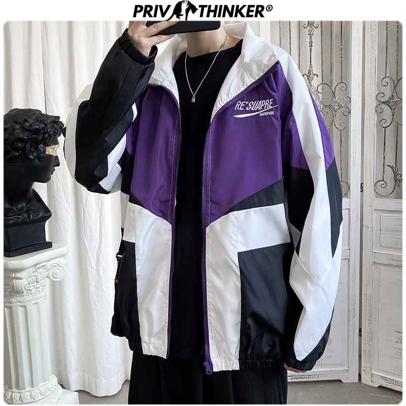 Privathinker Men Summer Hip Hop Outdoor Jackets 2020 Mens Streetwear Fashion Loose Clothing Male Spring Loose Jacket Coats Tops