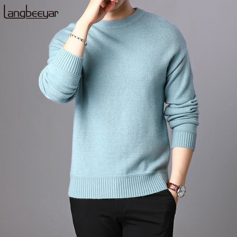 2019 New Fashion Brand Sweater For Mens Pullovers O-Neck Slim Fit Jumpers Knitwear Warm Autumn Korean Style Casual Clothing Male