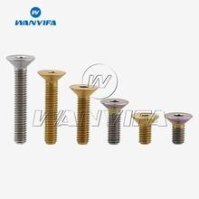"""Титановый """"Wanyifa"""" Ti M5 x 10, 12, 15, 20, 25 30 мм шестигранный ключ без каблука с потайной головкой болт с головкой"""