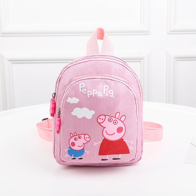 Peppa Pig School Backpack Mini Girl Knapsack Cartoon Kids Small Schoolbag Canvas Satchel Student Rucksack Children Book Bag