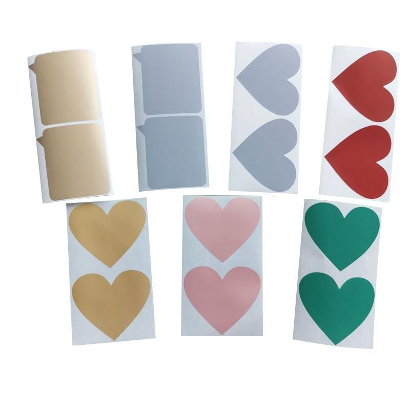 700 pcs lote diy coracao scratch revestimento adesivo para codigo secreto capa mensagem de casamento papelaria