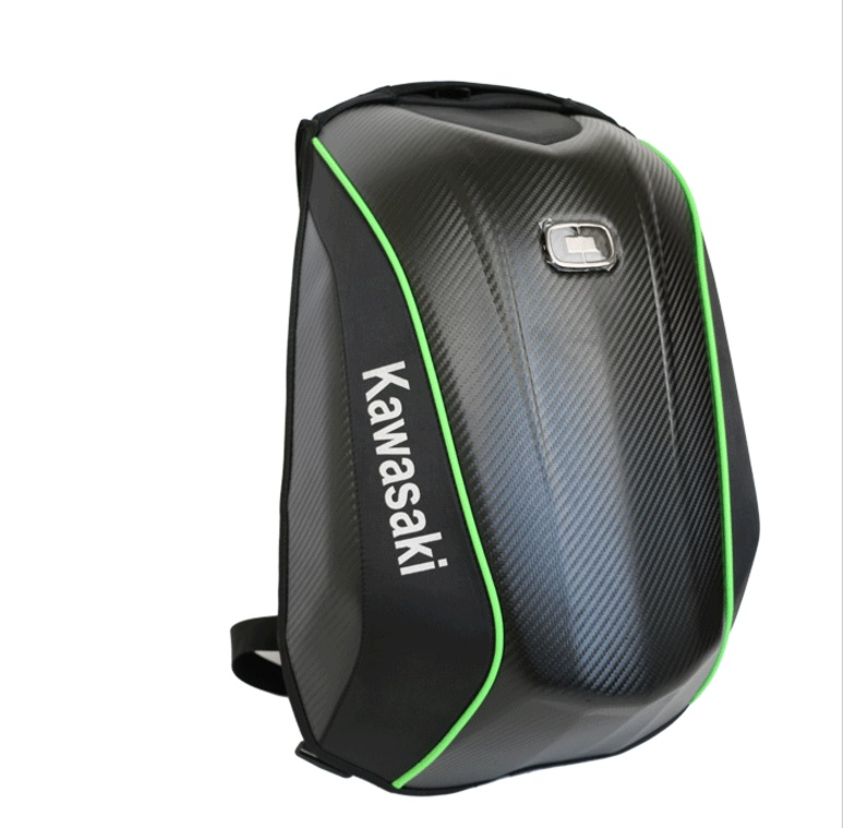 New For OGIO Mach Motorcycle Riding Backpack Waterproof Carbon Fiber Hard Shell Motorcycle Bag For Kawasaki Backpack
