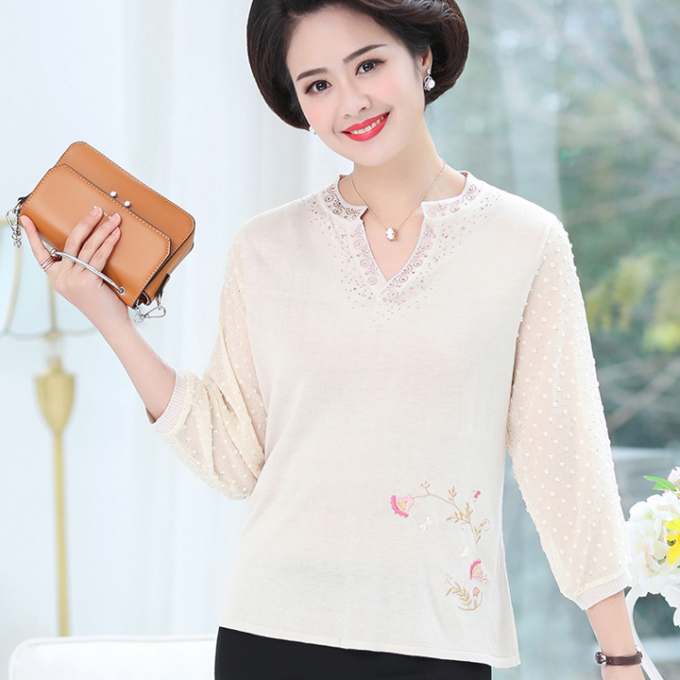 Knitted Tops Large Size Jumper 2020 New Woman Clothes Sweater Comfortable Embroidery Pullover Women Sweaters AQ260