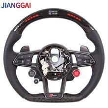 For Audi Rs RS3-RS7 A3 A4 A5 A7 Q7 TT TTs R8 Steering Wheel Itlay Alcantara LED Shift Light Racing Steering
