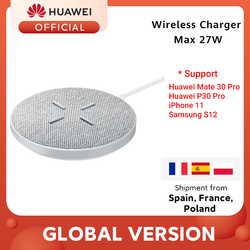 Originele Huawei Supercharge Draadloze Oplader Max 27W Ondersteuning Voor Android Ios Huawei Mate 30 Pro Huawei P30 Pro Iphone 11