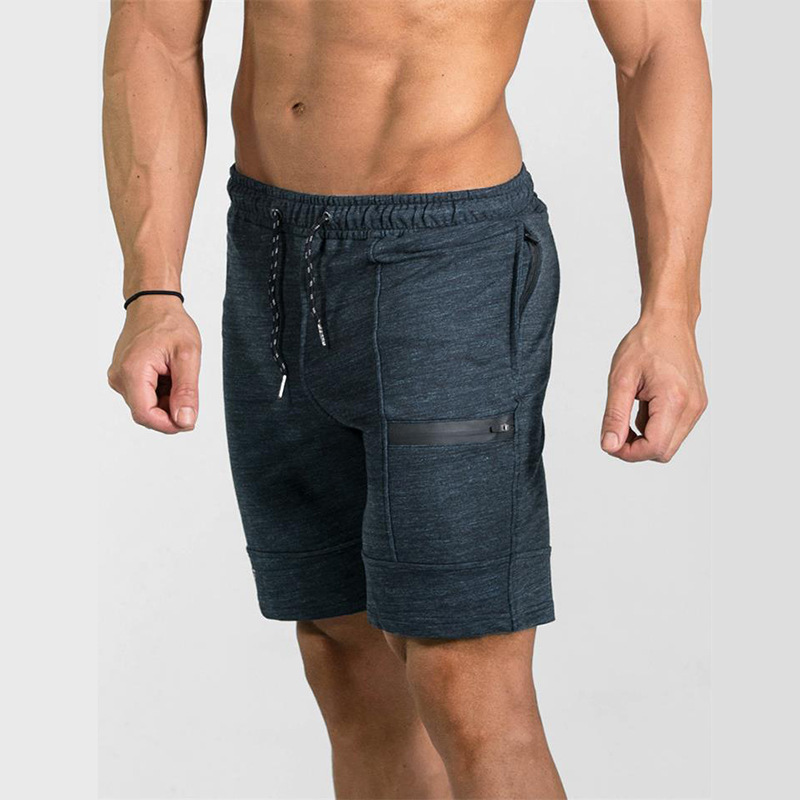 ZOGAA Mens Casual Shorts Gyms Fitness Bodybuilding Shorts Men Joggers Workout Clothes Loose Knee Length Solid Men Sweat Short