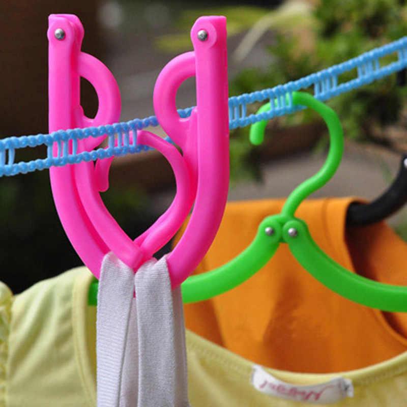 À prova de vento lenço armazenamento ajustável clothespin organizador cabide roupas portátil não deslizamento plástico dobrável lavanderia secagem rack