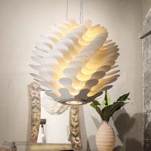 Moderno lampade A sospensione a LED Nordic Libera Sferica Pineale Lampada a Sospensione per Soggiorno home Decor Luminaire apparecchi di Illuminazione