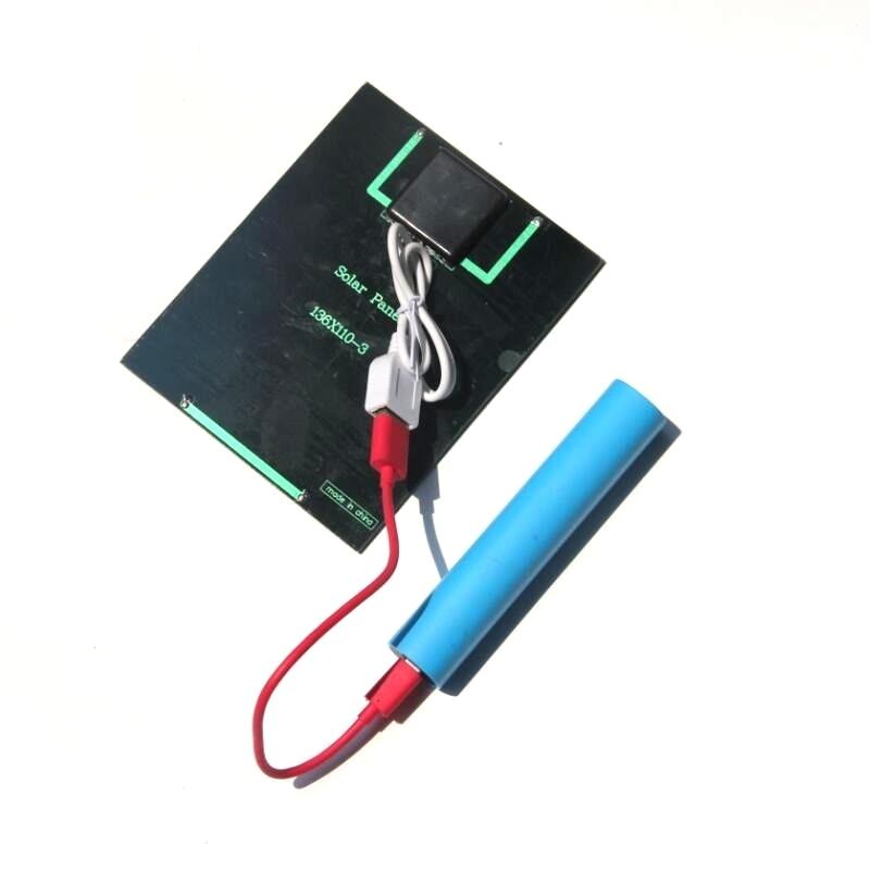 Chargeur de panneau solaire 2W 6V pour batterie externe cellule solaire polycristalline bricolage chargeur solaire pour batterie 3.7V 10 pcs/lot-in Cellules photovoltaïques from Electronique    1