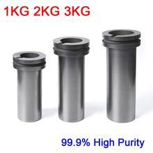 Dykb 1KG 2KG 3KG גבוהה טוהר 99.9% גרפיט ליהוק כור היתוך היתוך כפול טבעת זהב וכסף תנור