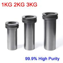 dykb 1KG 2KG 3KG High Purity 99.9% Graphite Casting Melting Crucible Double ring For Gold & Silver Furnace