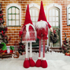 Huge Size Gnome Santa Beard Ornaments Plush Scandinavian Christmas Gnome Gifts Santa Claus Reindeer Doll Stretchable Decorations