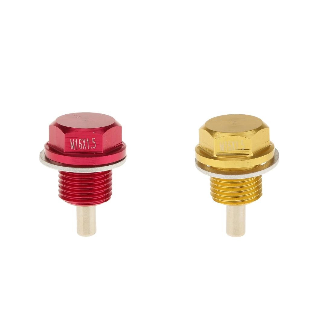 Pack von 2 Eloxiert Motor Öl Ablauf Stecker Conversion Kit Größe: M16X 1,5
