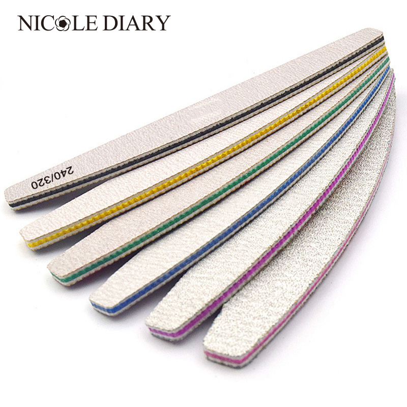 1PC Sandpaper Nail File For Gel Nails 180/240 Professional Manicure Buffer Pedicure Double-sided Set De Limas Nail Tools