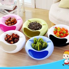 Double Layer Melon Seed Dish Sitting Room Plastic Dry Fruit Basket Lazy Person Takes Ware Box