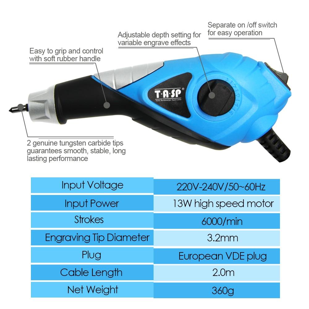 TASP 220V Elektrische Graveur Metaal Variabele Snelheid Graveren Pen - Elektrisch gereedschap - Foto 2
