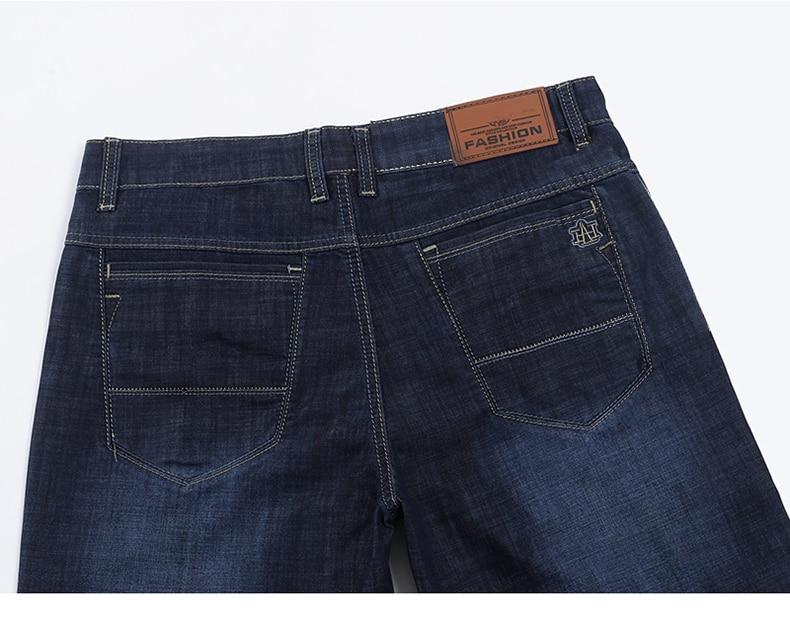 KSTUN Men Denim Shorts Dark Blue 2020 Summer Cotton Slim Straight Regular Fit Short Jeans Male
