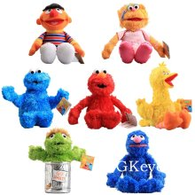 7styles 25-42 cm Cartoon Anime Sesame Street Elmo Oscar Cookie Grover Zoe Ernie Big Bird Stuffed Plush Toy Peluche Kids Gift(China)