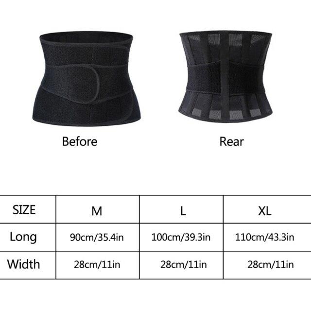 Sports Waist Trimmer Belt Slim Weight Loss Sweat Band Shapewear Adjustable Lumbar Brace Gym Accessories Weightlifting Training F 1