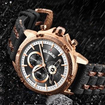 ¡Novedad de 2020! Relojes LIGE de moda para hombre, lujosos y exclusivos relojes de pulsera de silicona resistentes al agua, relojes deportivos de cuarzo para hombre, reloj Masculino