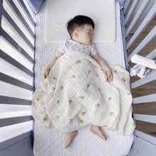 Bonito infantil cobertor macio swaddle banho recém-nascido anti-pontapé envoltório crianças carrinho de criança à prova de vento cobertor de algodão orgânico do bebê