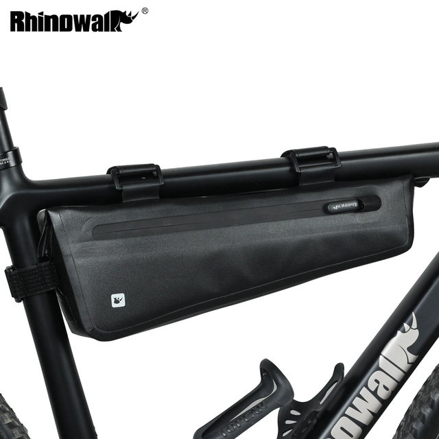 Rhinowalk אופניים מסגרת תיק 2.8L לכביש MTB מתקפל אופני אחסון כלי סלים משולש מסגרת תיק מלא עמיד למים
