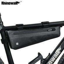 Rhinowalk vélo avant Tube cadre sac 2.8L pour route vtt pliable vélo rangement outil sacoches Triangle cadre sac complet étanche