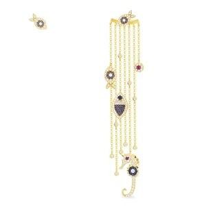 Image 2 - JaneKelly pendientes de circonita cúbica para mujer, aretes de lujo con borlas de pescado, circonita cúbica, Micro completa, de novia casamiento compromiso, venta al por mayor