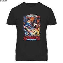 Ruas de raiva sega genesis caixa arte t camisa masculina moda topo t verão preto camiseta de algodão tops sbz4182