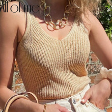 Knitted Tank Top Women Fashion Crop Tops Cotton Underwear Lingerie Streetwear mujer Vest Cropped Tee Camisole Female Tank Tops