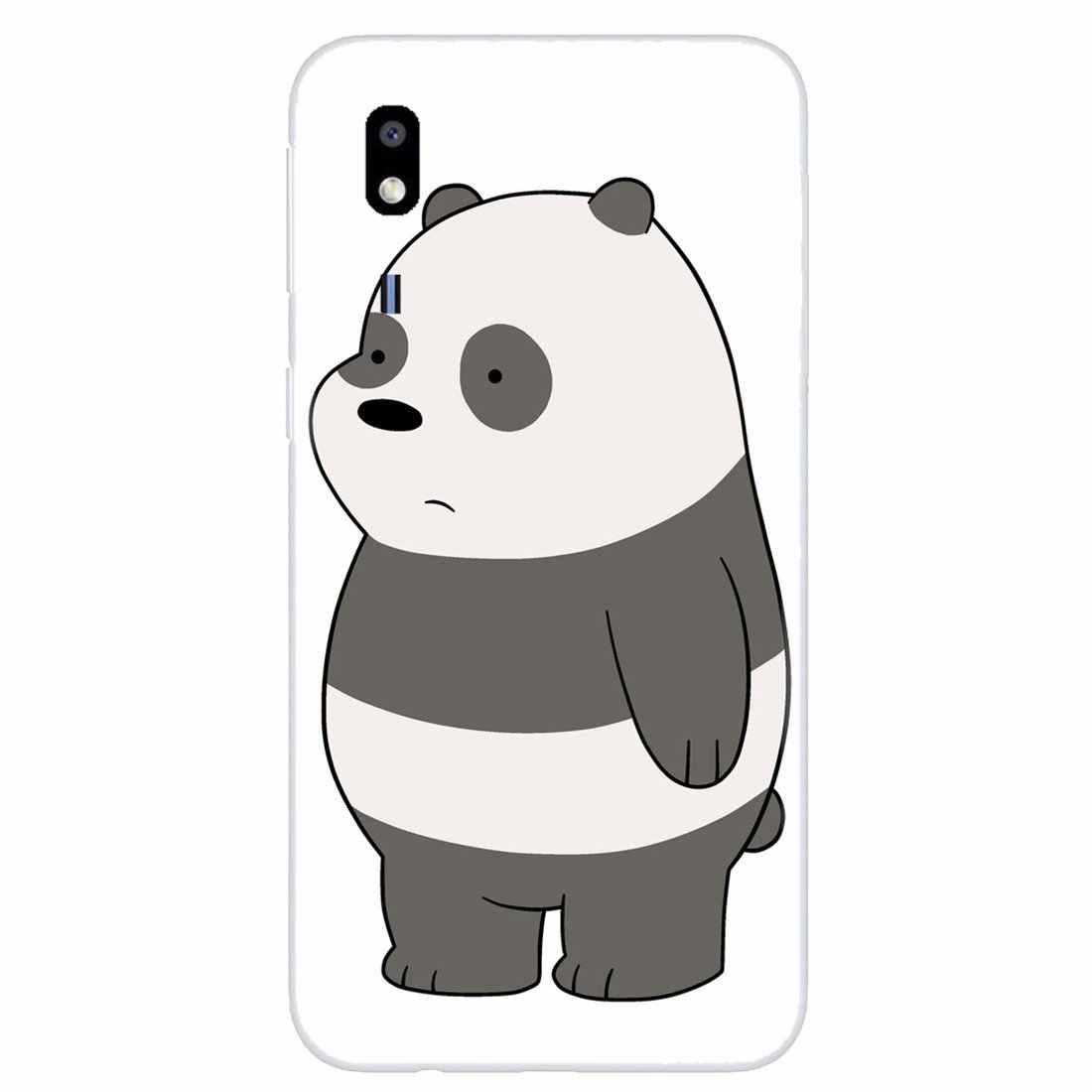 אישית סיליקון מקרה טלפון עבור Samsung Galaxy A3 A5 A7 A9 A8 כוכב לייט A6 בתוספת 2018 2015 2016 2017 אנחנו חשוף קרח דוב פנדה