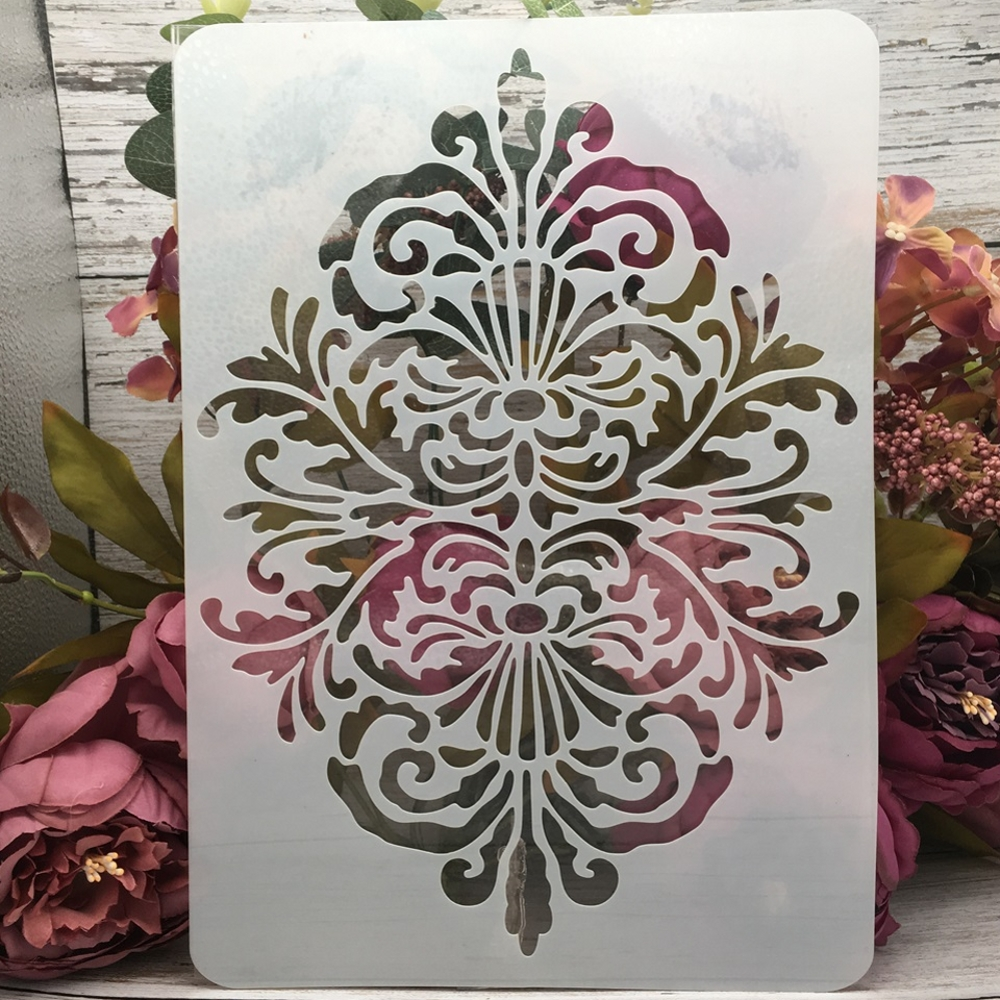 29*21cm A4 Vintage Floral Edge DIY Layering Stencils Wall Painting Scrapbook Coloring Embossing Album Decorative Template